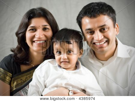 Mother, Father And Son Portrait