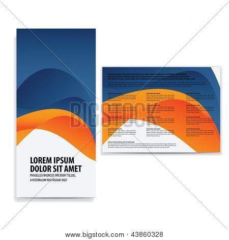 Tri doble plantilla folleto de negocios