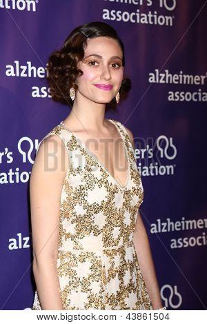 LOS ANGELES - MAR 20:  Emmy Rossum arrives at the 21st Annual A Night at Sardi's to Benefit the Alzheimer's Association at the Beverly Hilton Hotel on March 20, 2013 in Beverly Hills, CA