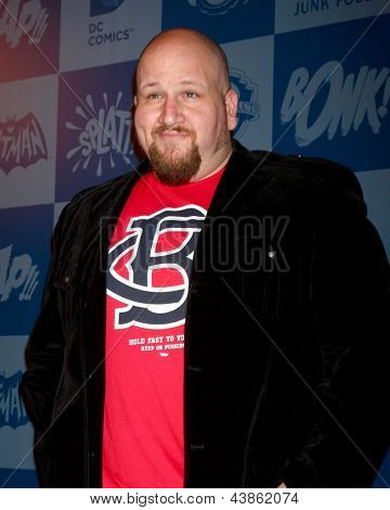 LOS ANGELES - MAR 21:  Stephen Kramer Glickman arrive at the Batman Product Line Launch at the Meltdown Comics on March 21, 2013 in Los Angeles, CA