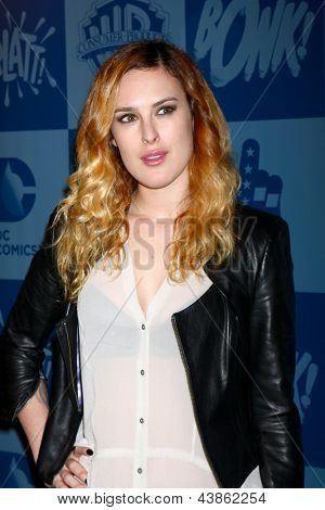 LOS ANGELES - MAR 21:  Rumer Willis at the Batman Product Line Launch at the Meltdown Comics on March 21, 2013 in Los Angeles, CA