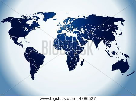 World Map Backlight Vector