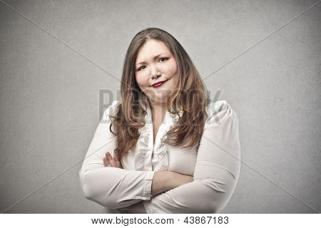 woman makes an ironic expression