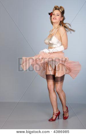 Cute Young Girl Burlesque Dancer