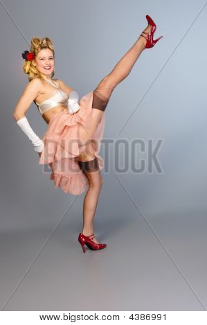 Cute Young Girl Burlesque Dancer