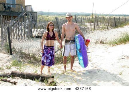 Couple Headed To Beach
