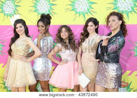 LOS ANGELES - MAR 23:  Fifth Harmony arrives at Nickelodeon's 26th Annual Kids' Choice Awards at the USC Galen Center on March 23, 2013 in Los Angeles, CA