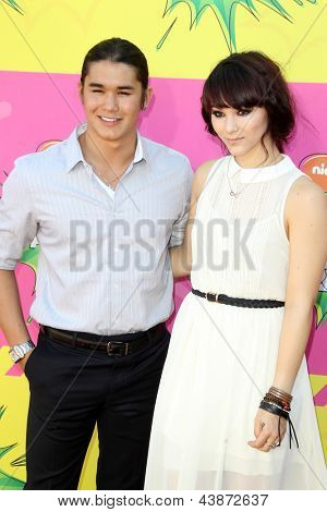 LOS ANGELES - MAR 23:  BooBoo Stewart, Fivel Stewart arrives at Nickelodeon's 26th Annual Kids' Choice Awards at the USC Galen Center on March 23, 2013 in Los Angeles, CA