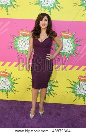 LOS ANGELES - MAR 23:  Maria Canals-Barrera arrives at Nickelodeon's 26th Annual Kids' Choice Awards at the USC Galen Center on March 23, 2013 in Los Angeles, CA