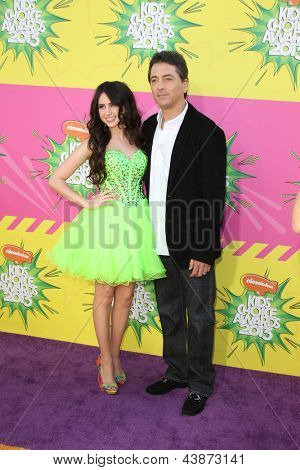 LOS ANGELES - MAR 23:  Ryan Newman, Scott Baio arrive at Nickelodeon's 26th Annual Kids' Choice Awards at the USC Galen Center on March 23, 2013 in Los Angeles, CA