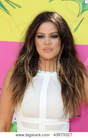 LOS ANGELES - MAR 23:  Khloe Kardashian arrives at Nickelodeon's 26th Annual Kids' Choice Awards at the USC Galen Center on March 23, 2013 in Los Angeles, CA