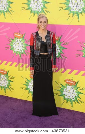 LOS ANGELES - MAR 23:  Alyson Stoner arrives at Nickelodeon's 26th Annual Kids' Choice Awards at the USC Galen Center on March 23, 2013 in Los Angeles, CA