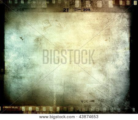 Marco de negativos de película, espacio de copia