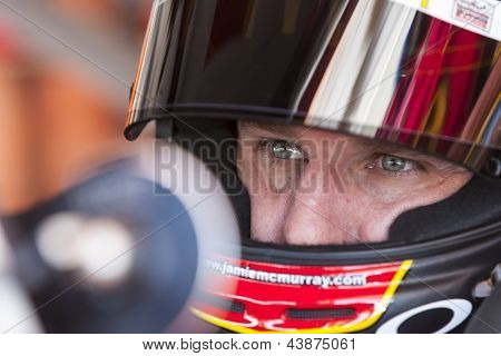 AVONDALE, AZ - MAR 02, 2013:  Jamie McMurray (1) prepares for a practice session for the Subway Fresh Fit 500 at Phoenix International Raceway in Avondale, AZ on Mar 02, 2013.
