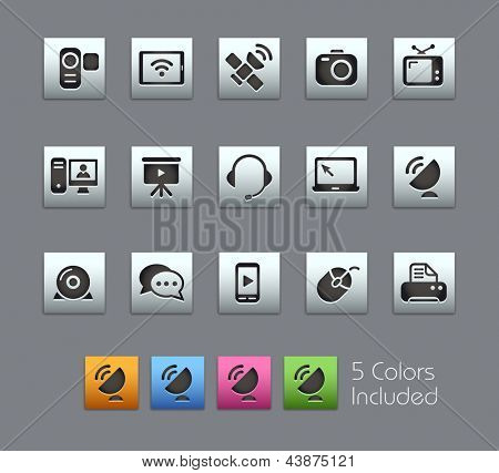 Communication Icons // Satinbox Series -------It includes 5 color versions for each icon in different layers ---------