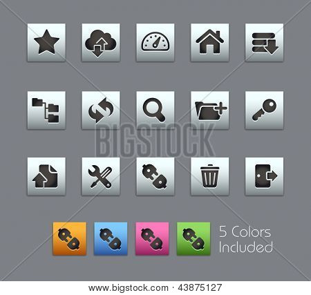 FTP & Hosting Icons // Satinbox Series -------It includes 5 color versions for each icon in different layers ---------
