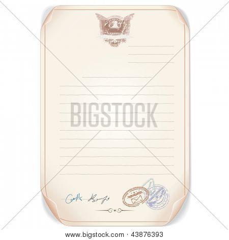 Old Top Secret Document. Editable Vector Template