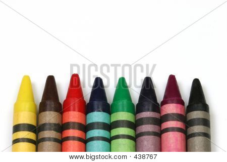 Crayons On White