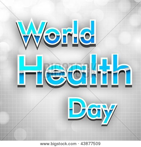 Abstract World health day.