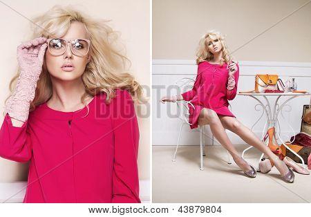 Elegant blondie posing