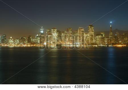 San Francisco Downtown At Dusk