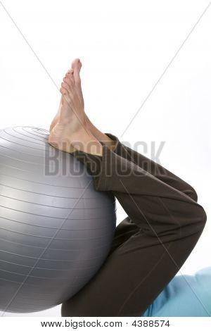 Rehabilitación con una bola