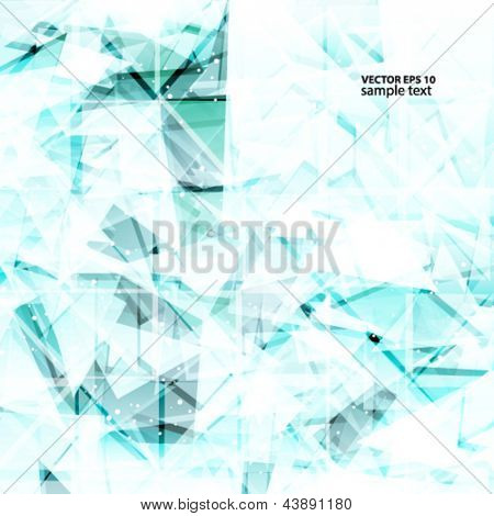 Abstract light turquoise techno background. Vector illustration