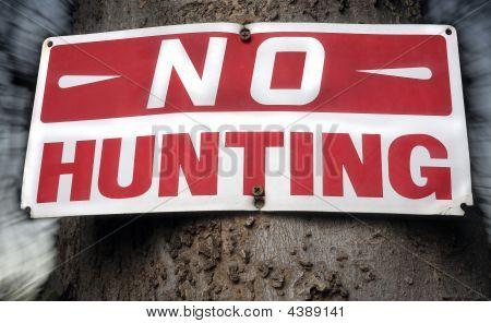 No lamentando ninguna señal de caza