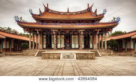 Taipei Confucius Temple in Taipei, Taiwan dates from 1879.