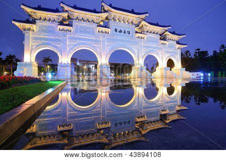 chiang kai-shek memorial hall in Taipei, Taiwan.
