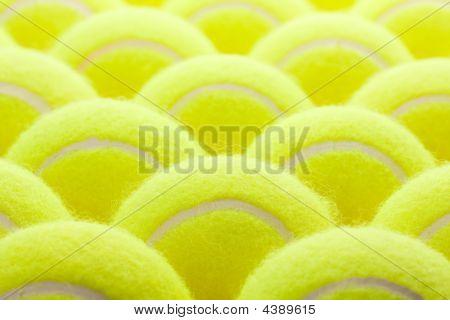 Group Of Tennis Balls