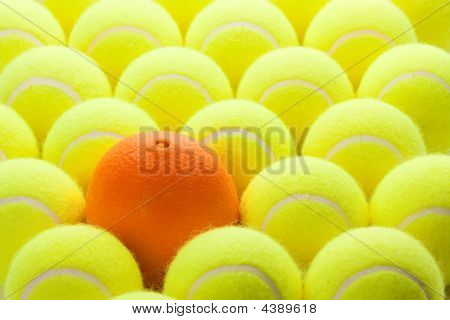 Group Of Tennis Balls