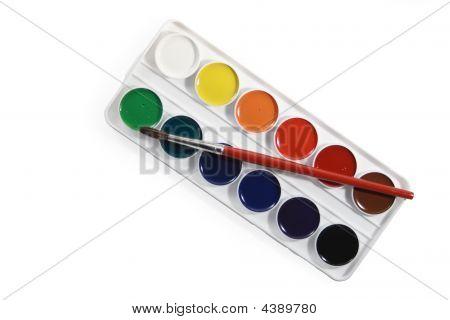 Watercolors And Brush