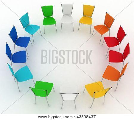 Gruppe der Stühle Kosten Runde