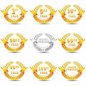 pic of 50th  - vector illustration of different anniversary celebration badge - JPG