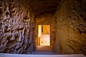picture of ptolemaic  - Steps in sunshine leading to the tombs of Kings in Pafos Cyprus - JPG