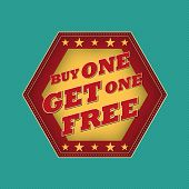 stock photo of free-trade  - buy one get one free  - JPG