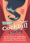 stock photo of cocktails  - Cocktail party poster - JPG
