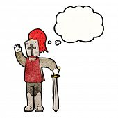 picture of arthurian  - cartoon waving knight - JPG