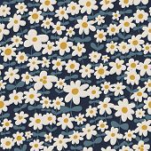 Chamomile meadow. Floral seamless pattern in vector for beautifull designs and backgrounds
