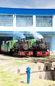 picture of former yugoslavia  - steam locomotives in depot - JPG