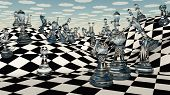 stock photo of imaginary  - Fantasy Chess - JPG