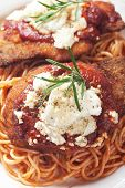 stock photo of cheese-steak  - Chicken parmesan - JPG