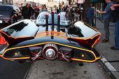 LOS ANGELES - MAR 21:  Batmobile arrives at the Batman Product Line Launch at the Meltdown Comics on