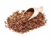 stock photo of flax seed  - Flax seeds - JPG