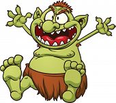 stock photo of troll  - Fat cartoon troll - JPG