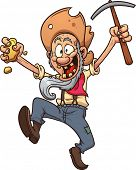 picture of gold nugget  - Old cartoon gold miner - JPG