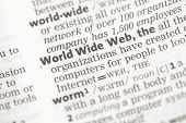 picture of pronunciation  - World Wide Web definition in the dictionary - JPG