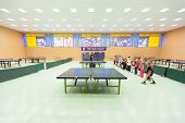 MOSCOW, OCT 23: Childrens competition ping pong in Russian State University of Physical Culture, Spo