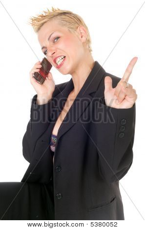 Aggressive Punk Business Woman